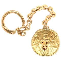 Yellow Gold Key Chain