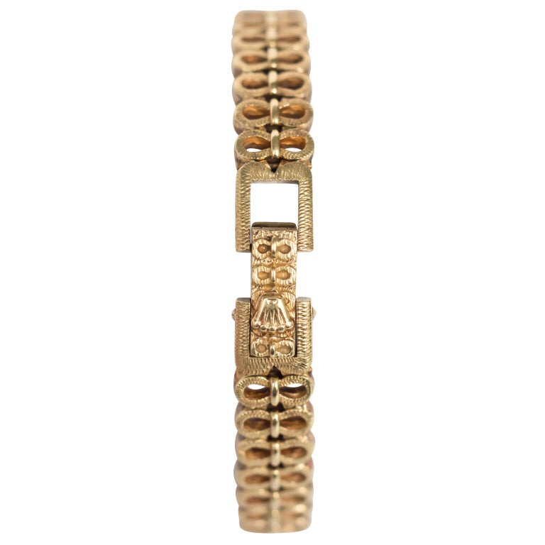 Retro Yellow Gold Ladies Rolex 1940s Watch For Sale