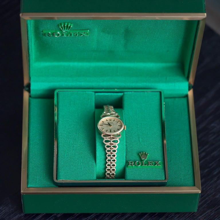 Women's or Men's Yellow Gold Ladies Rolex 1940s Watch For Sale