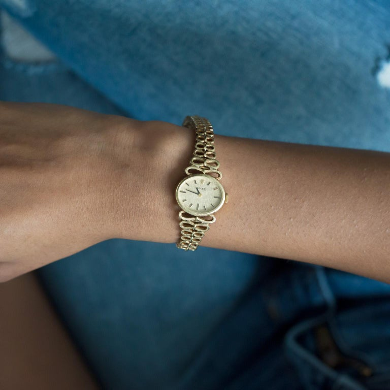 Yellow Gold Ladies Rolex 1940s Watch For Sale 1