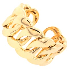 Yellow Gold Large Link Bracelet