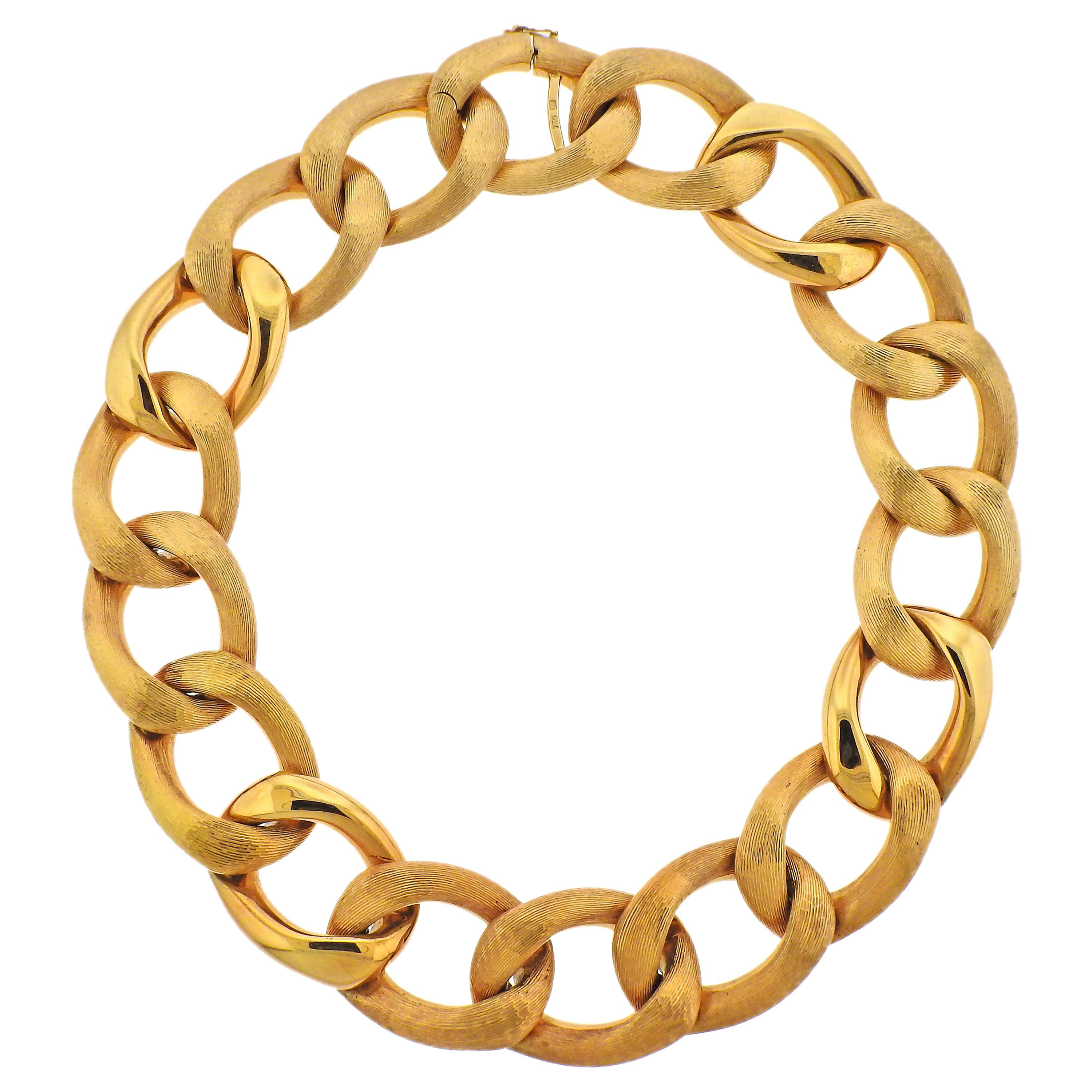 Yellow Gold Link Necklace