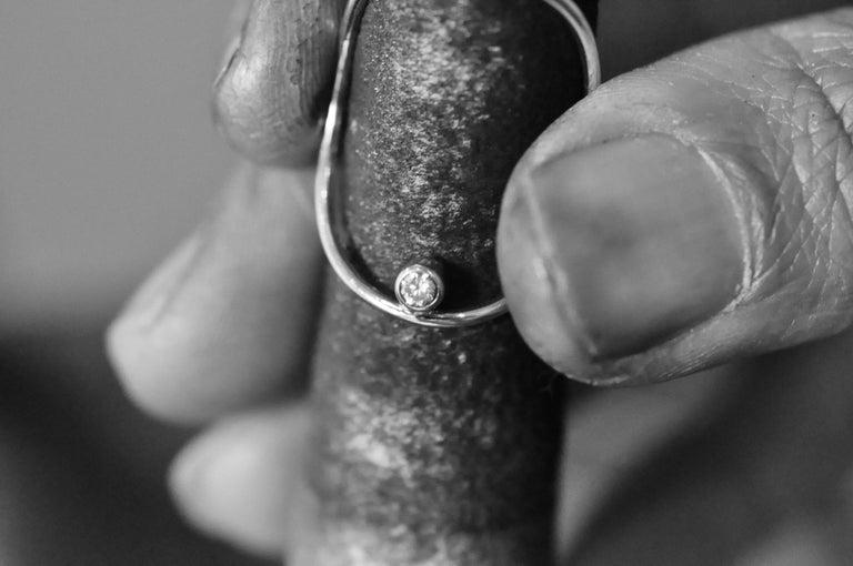 Yellow Gold Minimalist Diamond Statement Ring 1