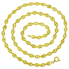 Yellow Gold Nautical Chain Necklace, 1970s