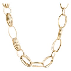 Yellow Gold Open Link Necklace