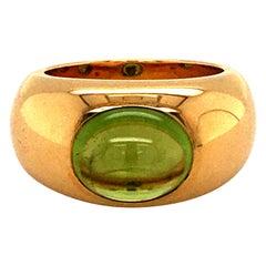 Yellow Gold Peridot Ring by Bucherer