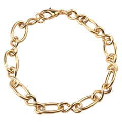 Yellow Gold Plated Orbit Chain Bracelet by Cristina Ramella