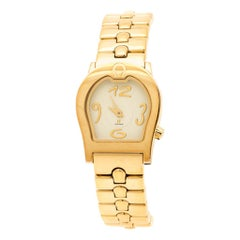 Yellow Gold Plated Stainless Steel Ravenna A02200 Women's Wristwatch 24 mm