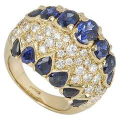 Yellow Gold Sapphire and Diamond Dress Ring