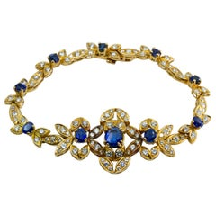 Yellow Gold, Sapphire and Diamond