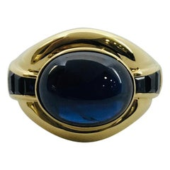 Yellow Gold Sapphire Ring Band