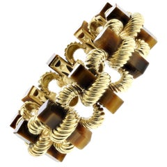 18K Yellow Gold Tiger's Eye Bracelet