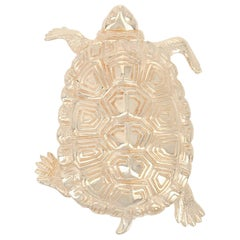 Yellow Gold Turtle Brooch, 14 Karat Women's Reptile Pin