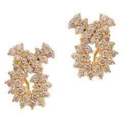 Yellow Gold Twist Earrings