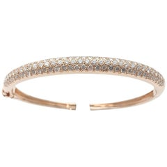 "Yellow Gold Van Cleef & Arpels Bracelet, ""Eve"" Collection Set with Diamonds"