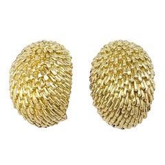 Yellow Gold Van Cleef & Arpels Hedgehog Earrings