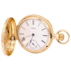 Yellow Gold Waltham Pocketwatch