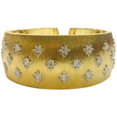 Yellow Gold White Gold Diamond Bangle Bracelet