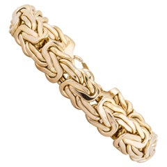 Yellow Gold Woven Bracelet