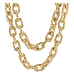 Yellow Gold Woven Link Convertible Necklace