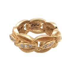 Yellow Gold Wreath Ring with Diamond Accents