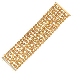 Yellow Gold Yellow Sapphire and Diamond Bracelet