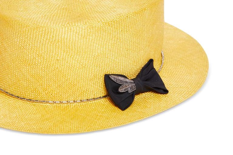 Yellow hat NWOT In New Condition In Capri, IT
