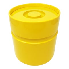 Yellow Ice Bucket by Sergio Asti for Heller