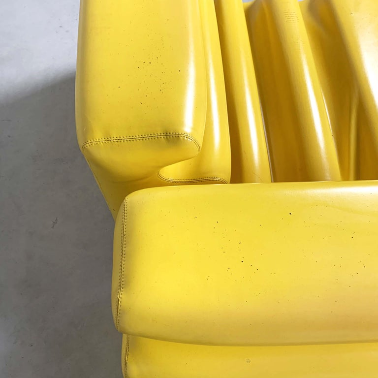 Fabric Yellow Karelia Lounge Chairs by Liisi Beckmann for Zanotta, 1970s For Sale