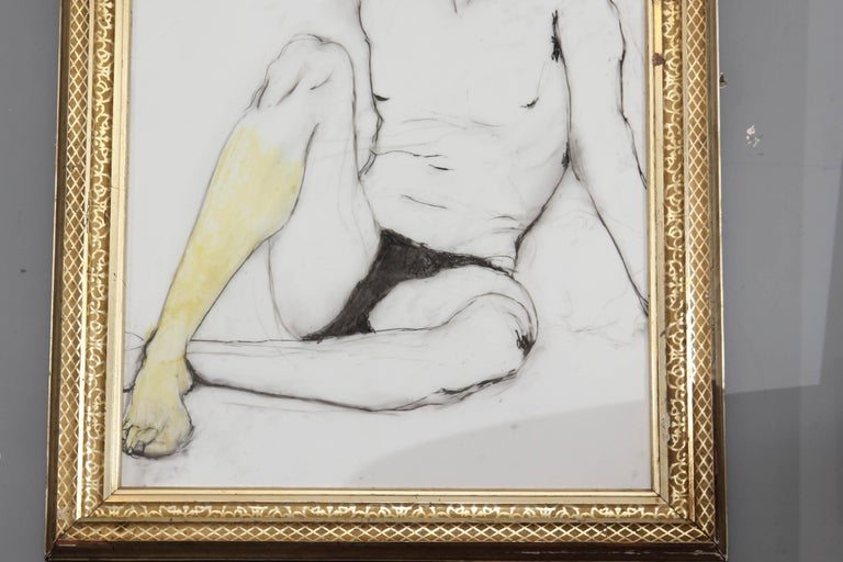 20th Century Yellow Leg Male Drawing For Sale