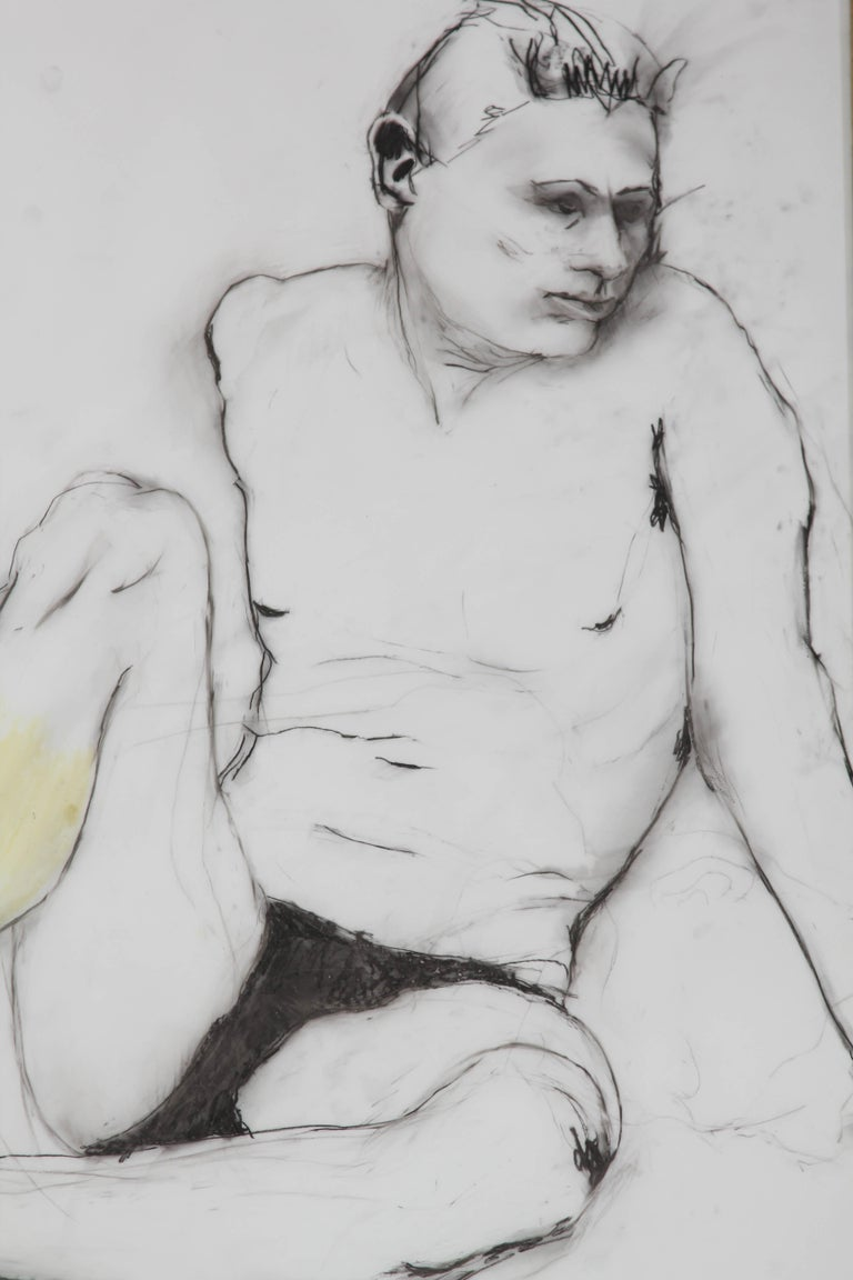 Yellow Leg Male Drawing For Sale 1