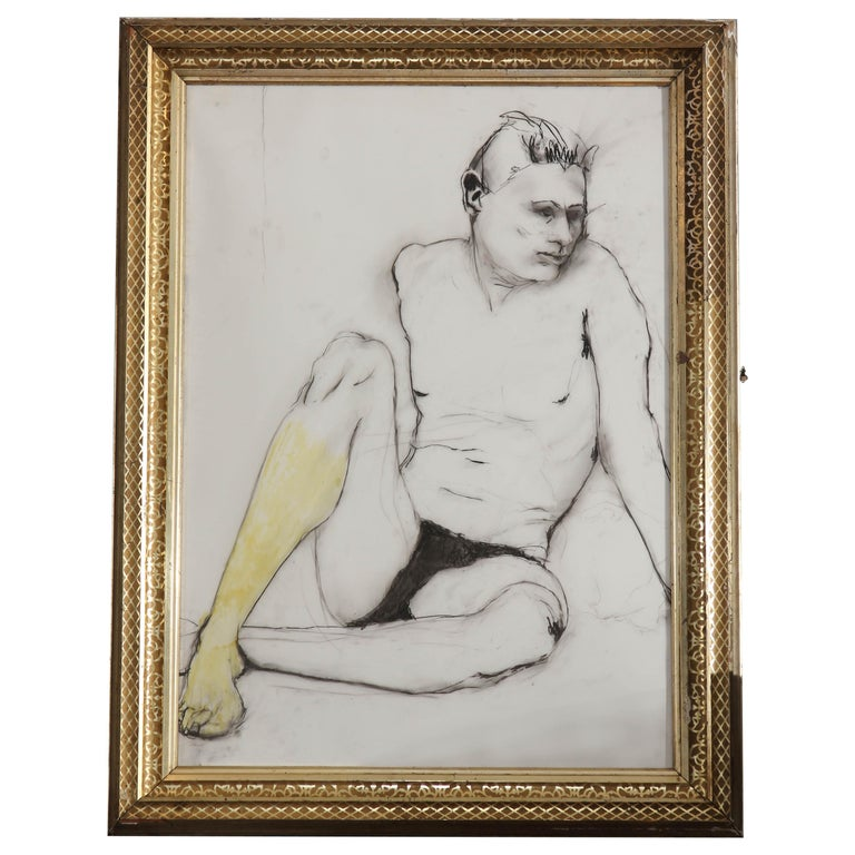 Yellow Leg Male Drawing For Sale