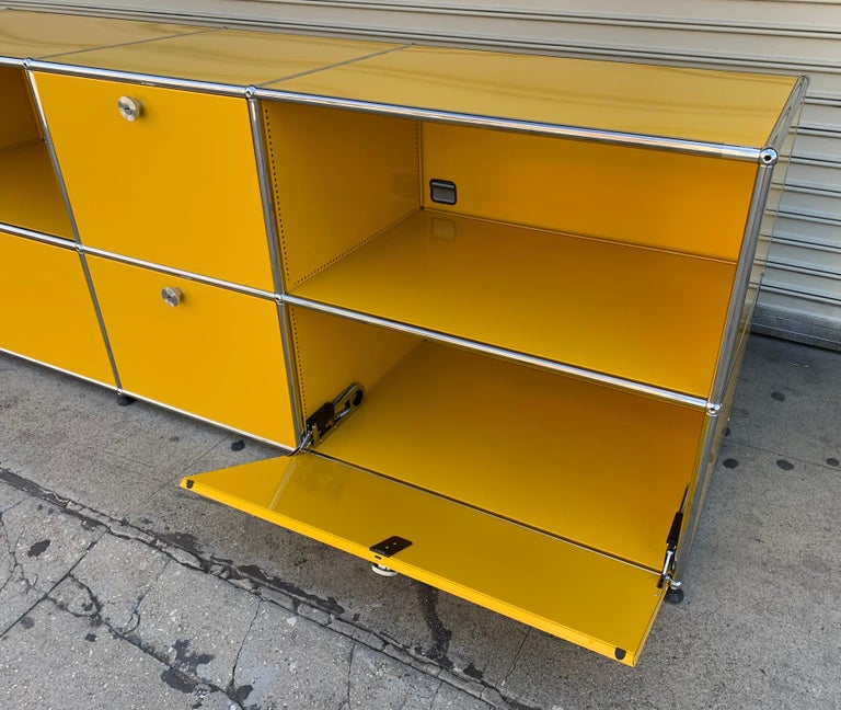 Yellow Metal Credenza by USM Haller For Sale 4