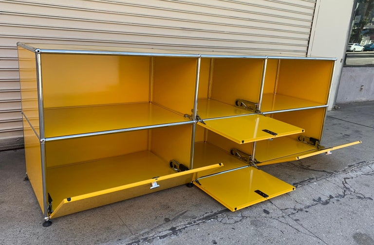 Yellow Metal Credenza by USM Haller For Sale 5