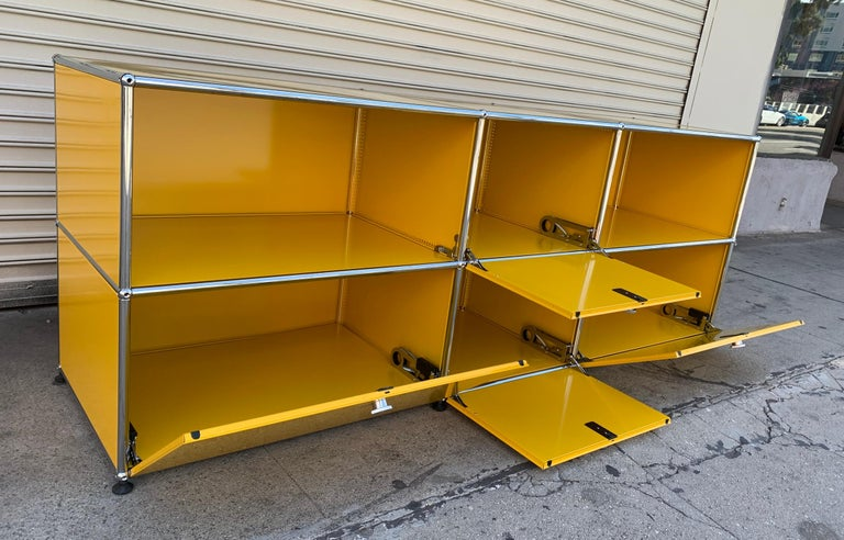 Yellow Metal Credenza by USM Haller For Sale 6