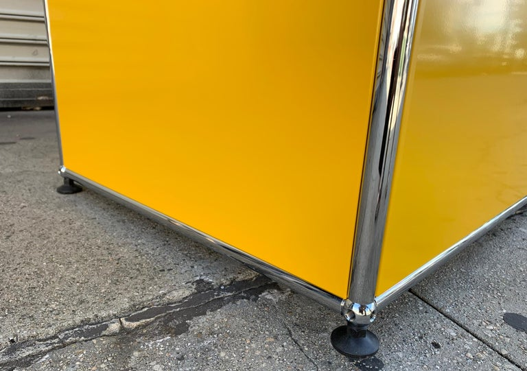 Yellow Metal Credenza by USM Haller For Sale 12