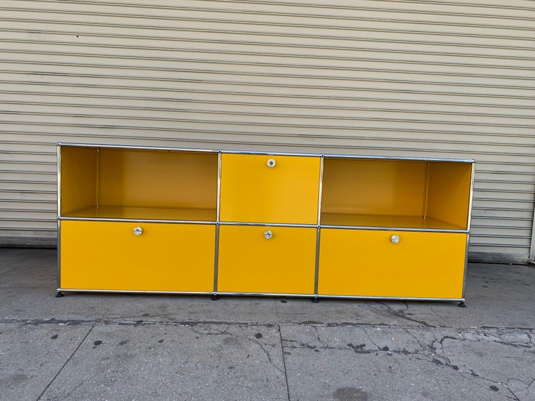 Yellow Metal Credenza by USM Haller For Sale 14