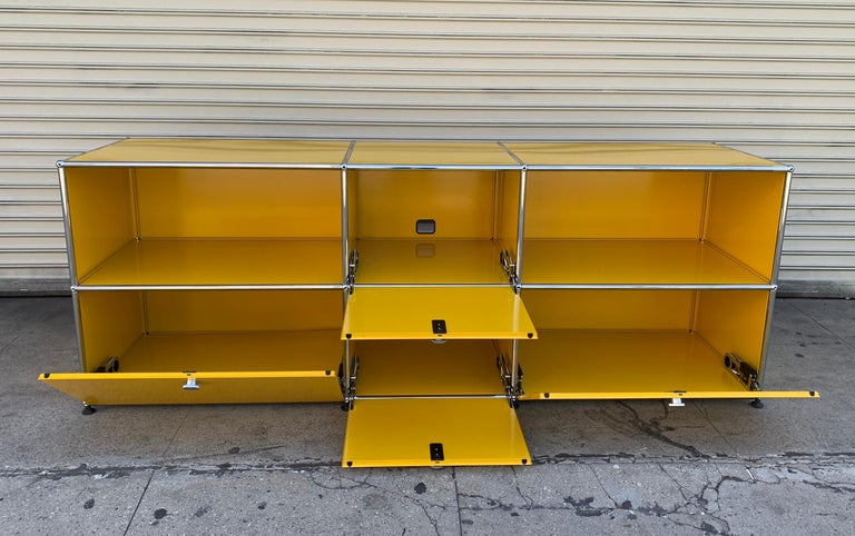 Modern Yellow Metal Credenza by USM Haller For Sale