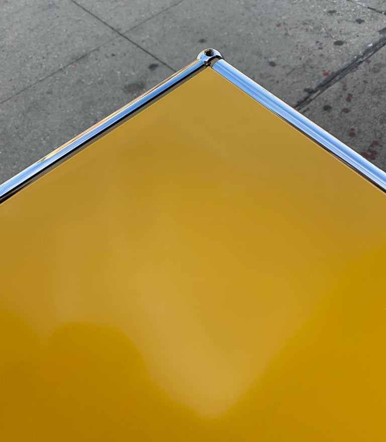 Yellow Metal Credenza by USM Haller In Good Condition For Sale In Los Angeles, CA