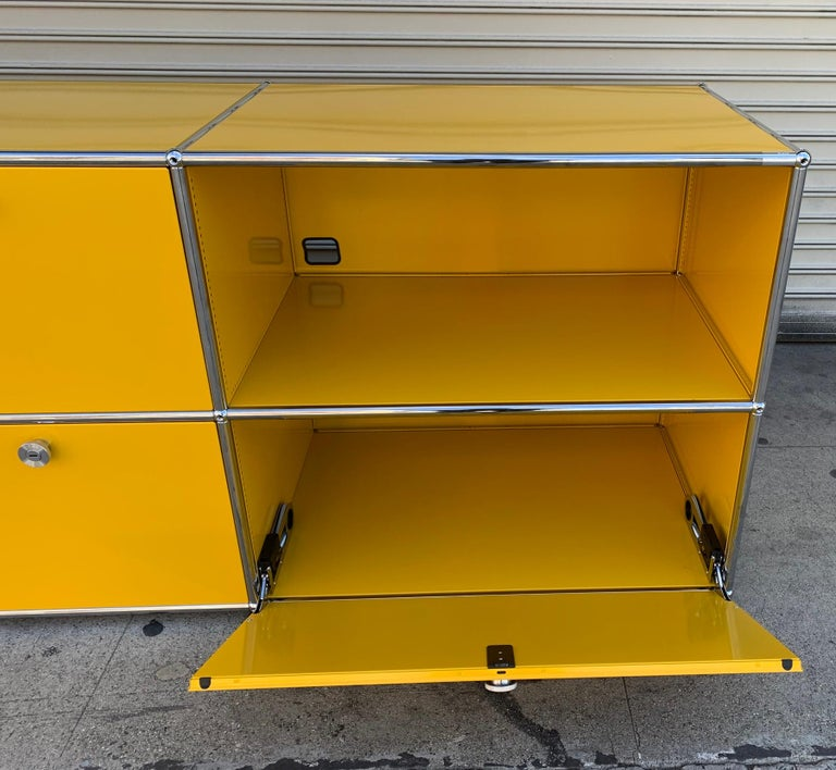 Yellow Metal Credenza by USM Haller For Sale 2
