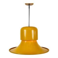 Yellow Metal Hanging Lamp by Stilnovo, Italy, 1950s