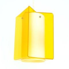 Yellow Midcentury Acrylic Pendant