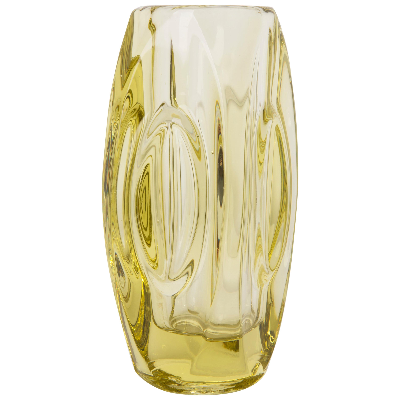 Yellow Mini Vase by Vladislav Urban for Sklo Union, 20th Century, Europe, 1960s