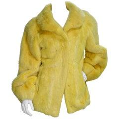 Yellow Mink Vintage Coat