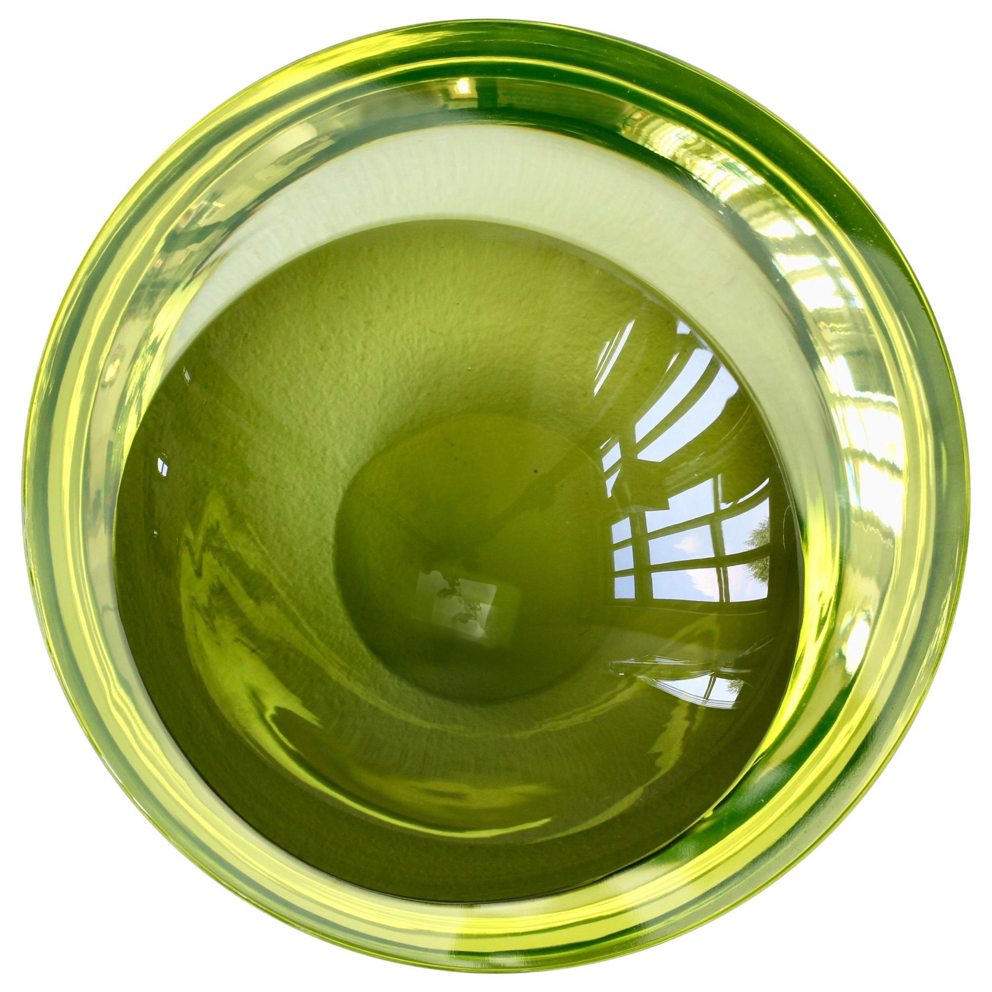 Yellow Murano Sommerso Glass Bowl Antonio Da Ros for Cenedese Attributed