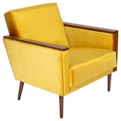 Yellow Mustard Armchair, 1960s, DDR, Germany