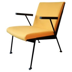 Yellow 'Oase' Lounge Chair with Armrests by Wim Rietveld for Ahrend De Circel