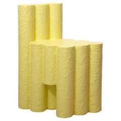 Yellow Paper Pulp Sculptural #21.1c Tubes Chair by Zaven