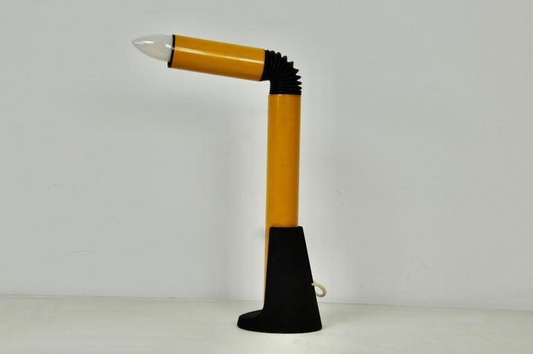 Italian Yellow Periscope Table Lamp by Danilo Aroldi for Stilnovo, 1960s For Sale