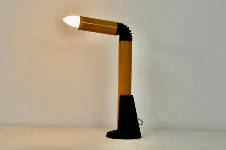 Yellow Periscope Table Lamp by Danilo Aroldi for Stilnovo, 1960s In Good Condition For Sale In Lasne, BE